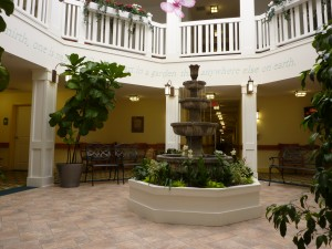 Interior Atrium area Spring Mill Assisted Living